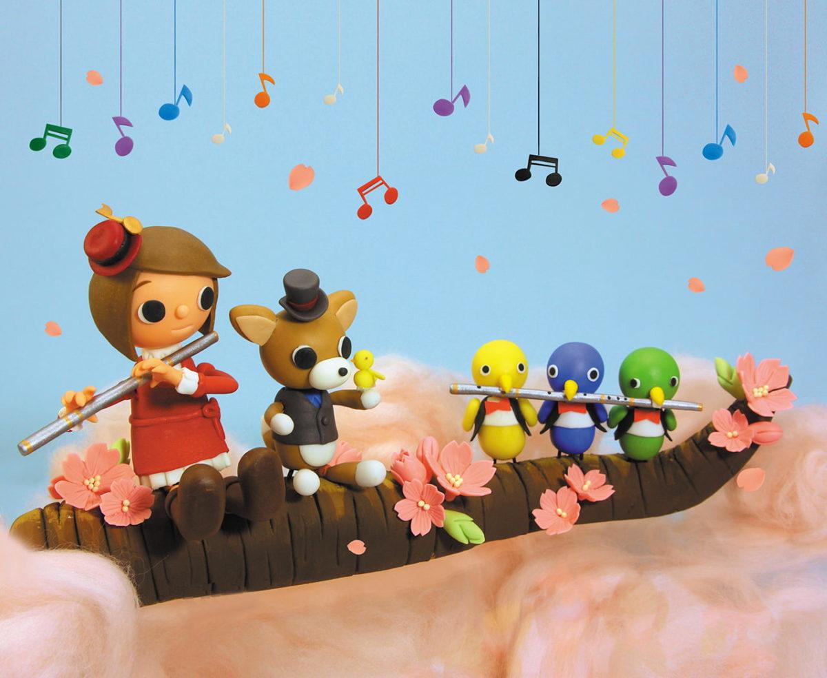 2011年4月号 民主音楽協会コンサートガイド表紙「小鳥とフルート」