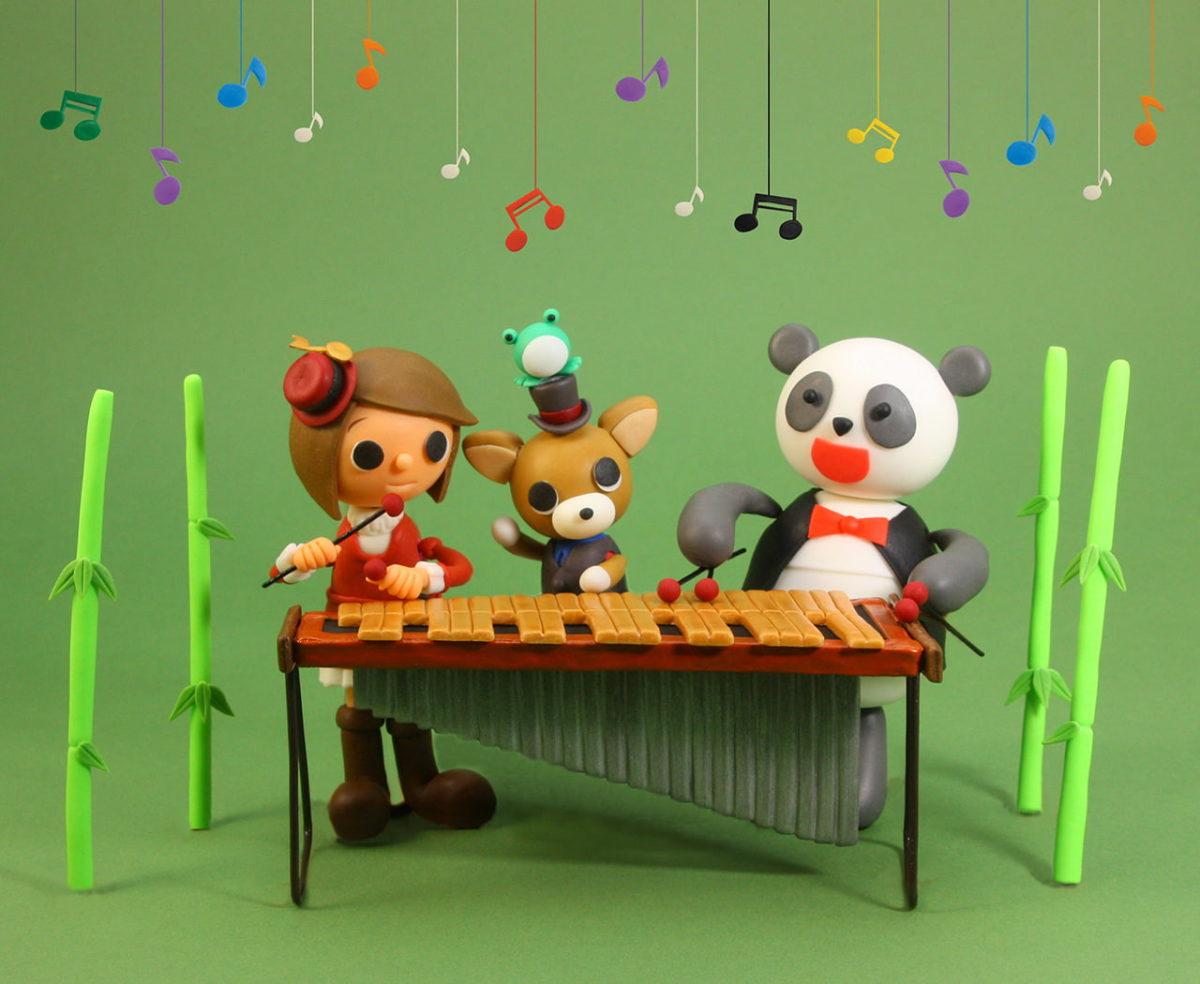 2011年6月号 民主音楽協会コンサートガイド表紙「パンダと木琴」