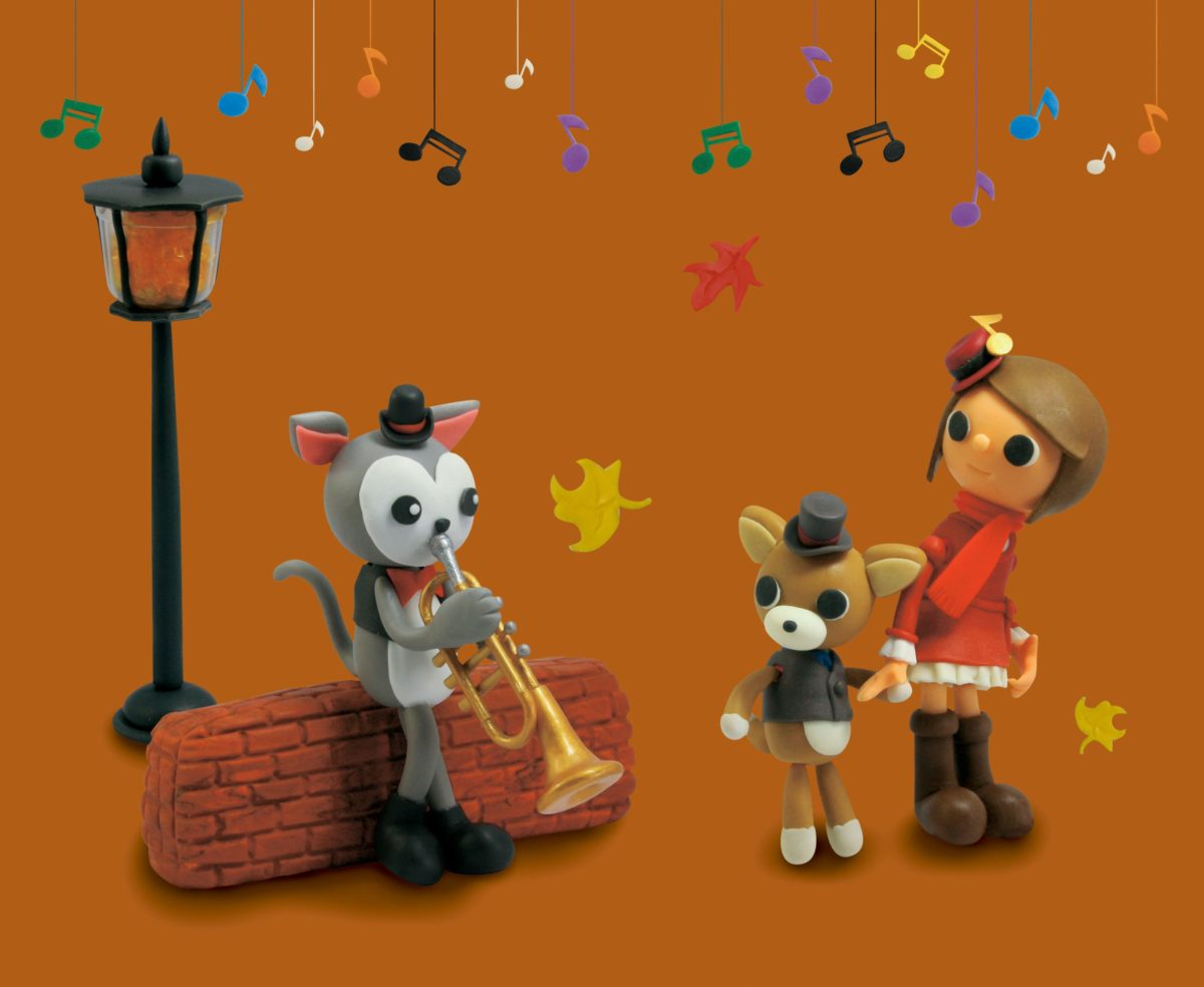 2011年11月号 民主音楽協会コンサートガイド表紙「ネコさんとトランペット」