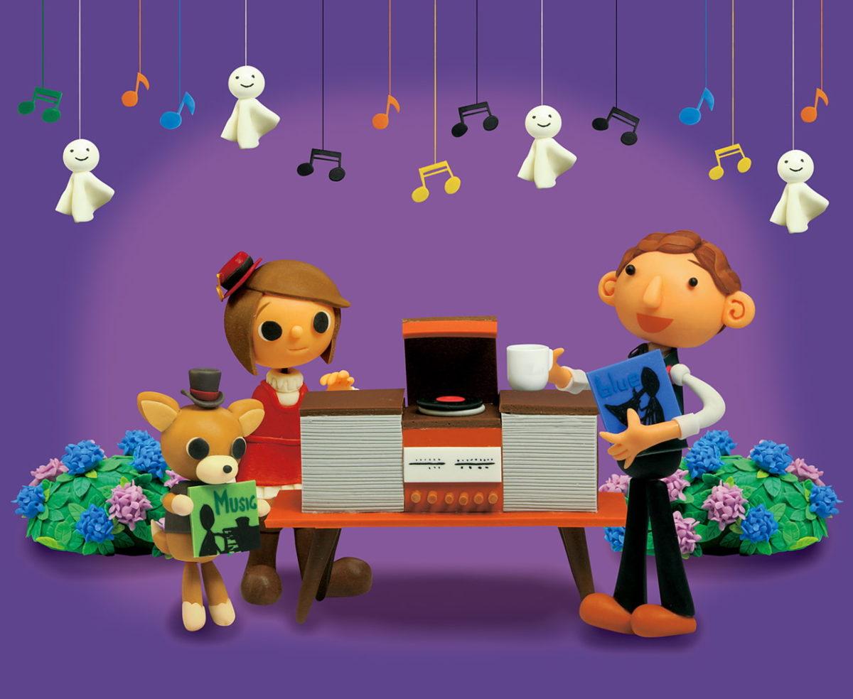 2012年6月号 民主音楽協会コンサートガイド表紙「ジャズとレコードプレーヤー」
