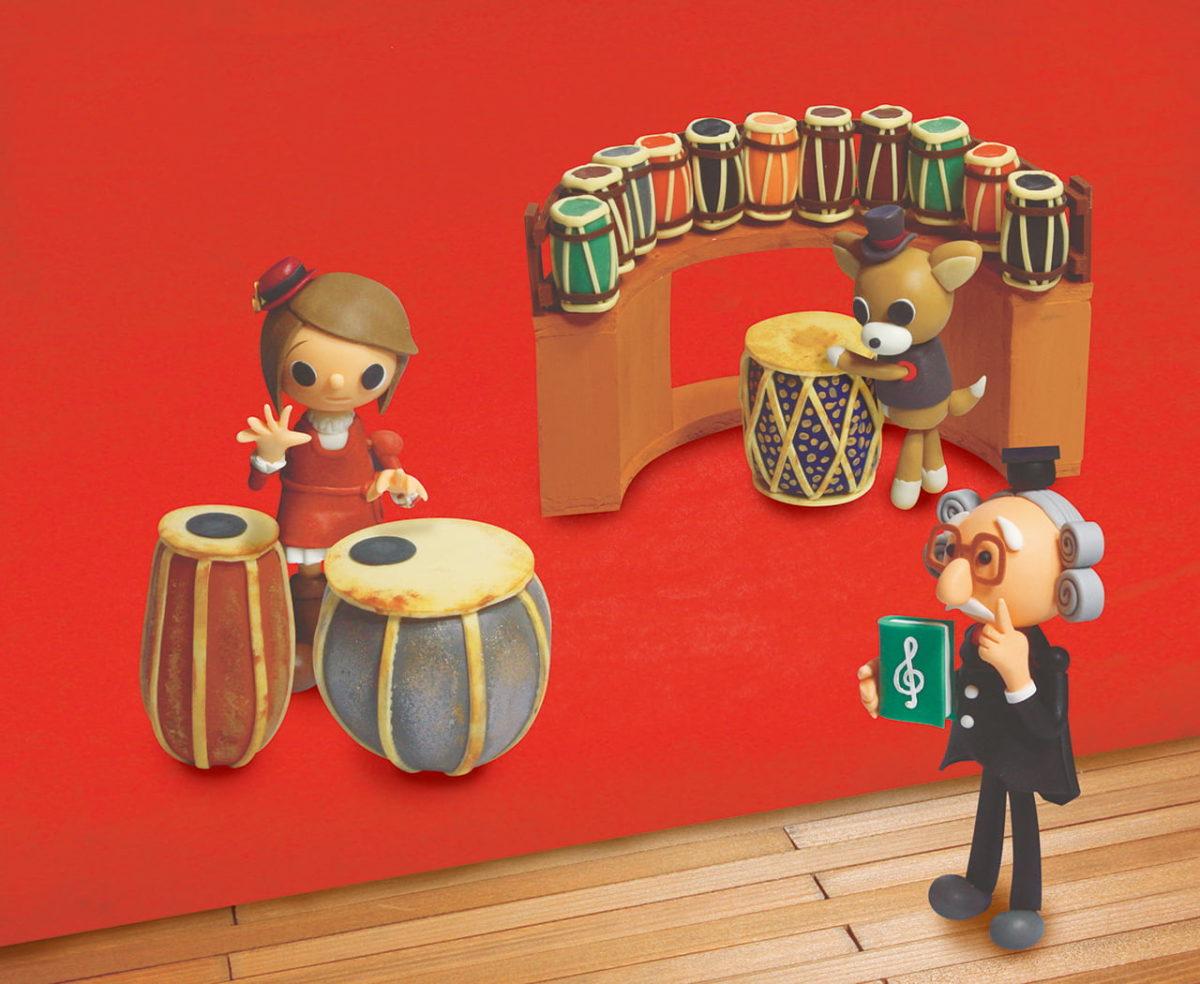 2013年3月号 民主音楽協会コンサートガイド表紙「アジアの膜鳴楽器」